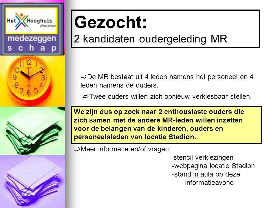  De MR bestaat uit 4 leden namens het personeel en 4 leden namens de ouders.