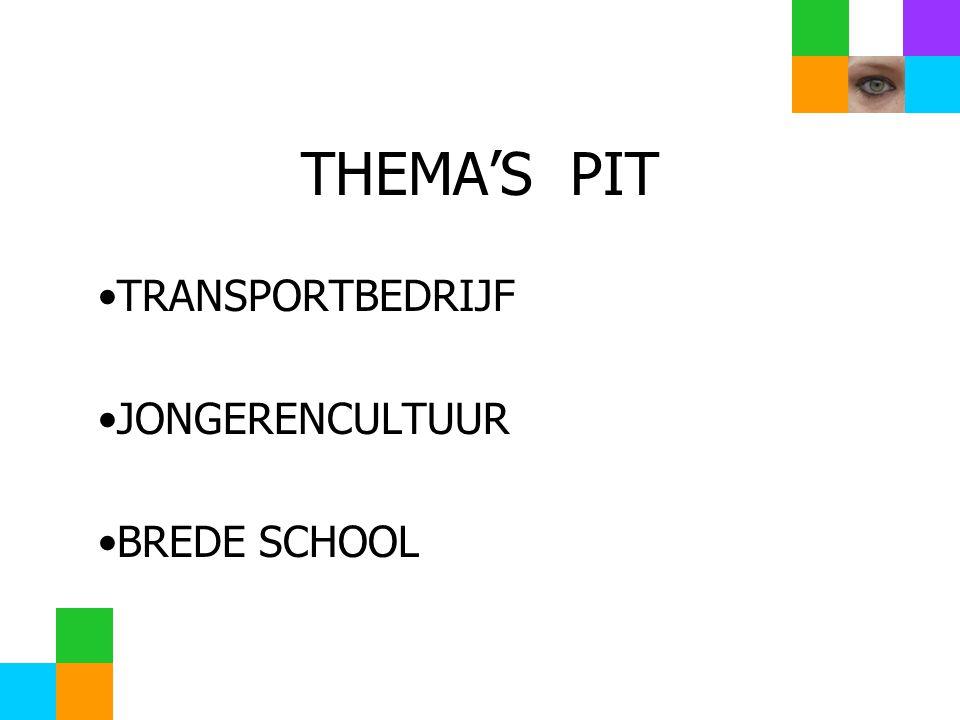 THEMA'S PIT TRANSPORTBEDRIJF JONGERENCULTUUR BREDE SCHOOL