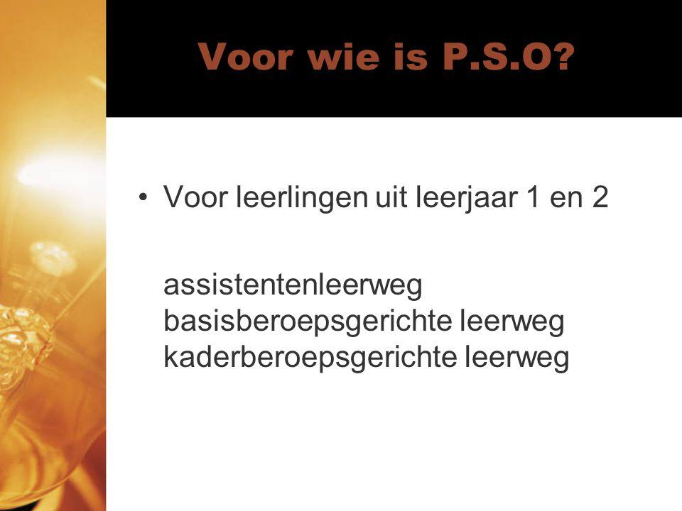 Voor wie is P.S.O.