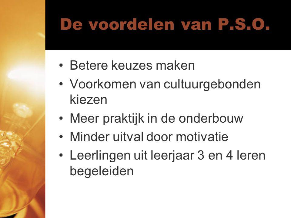De voordelen van P.S.O.