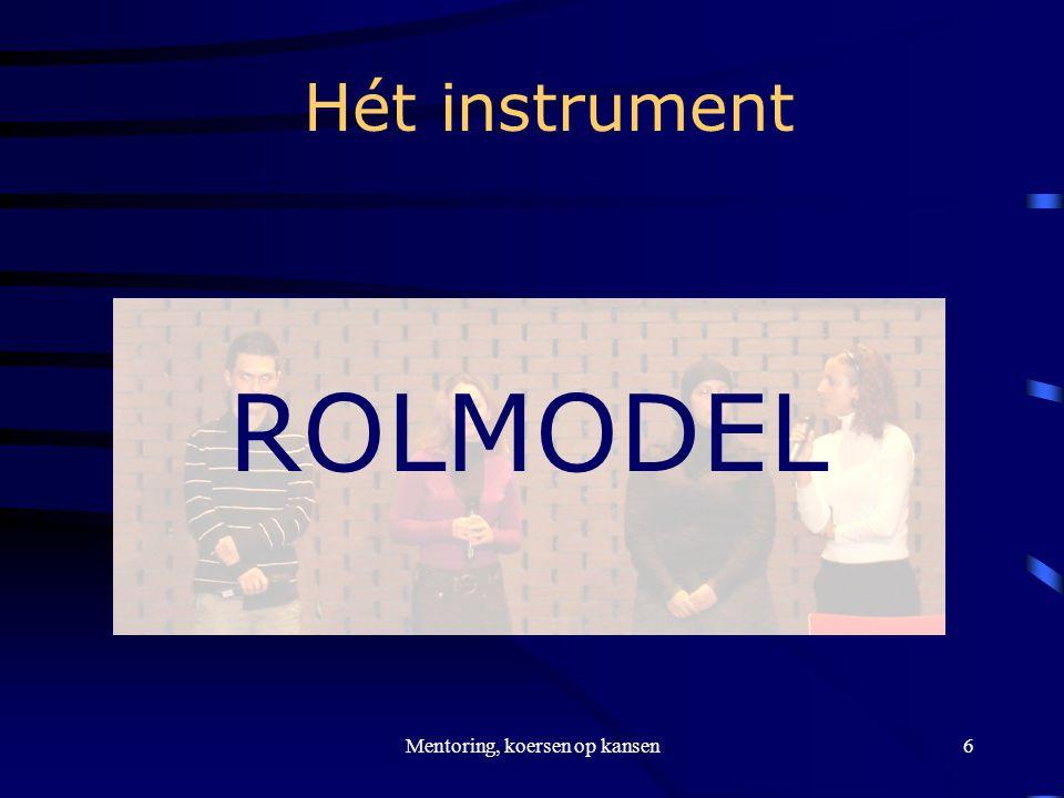 Mentoring, koersen op kansen6 Hét instrument ROLMODEL