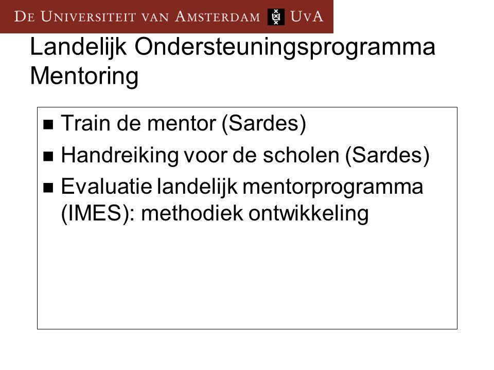 Tien jaar professionalisering mentor projecten.Waar staat Nederland.