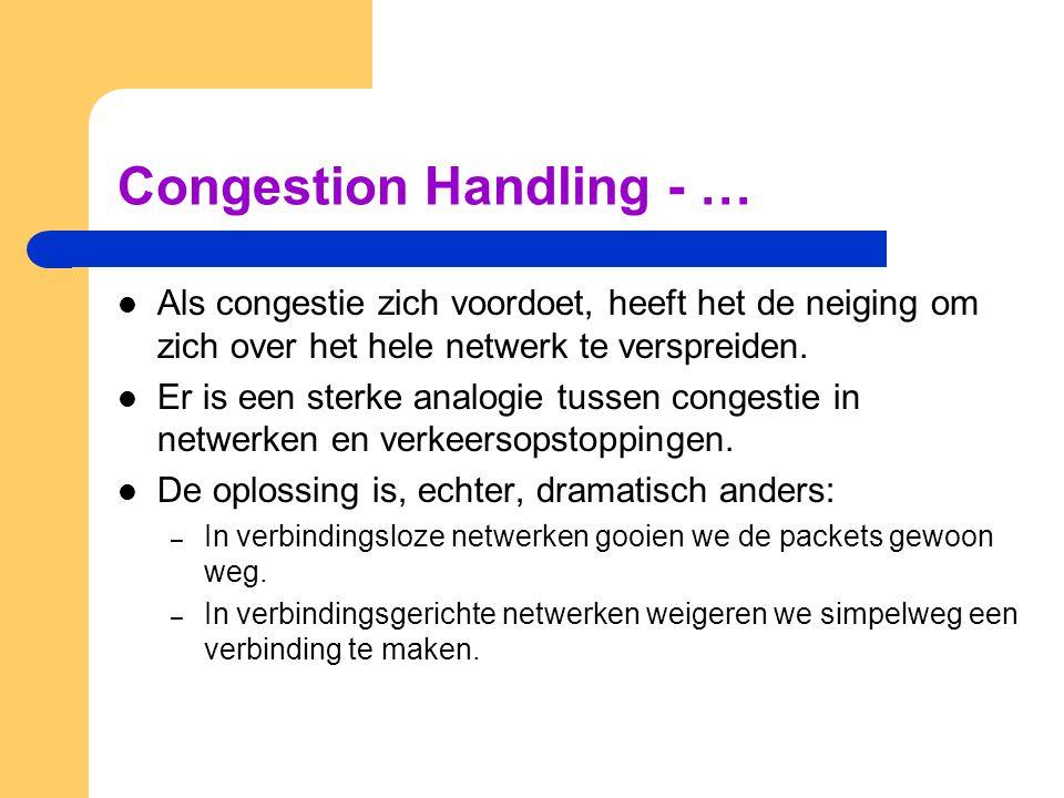 Congestion Handling - … Als congestie zich voordoet, heeft het de neiging om zich over het hele netwerk te verspreiden. Er is een sterke analogie tuss