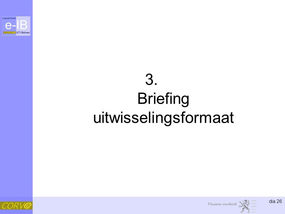 dia 26 3. Briefing uitwisselingsformaat