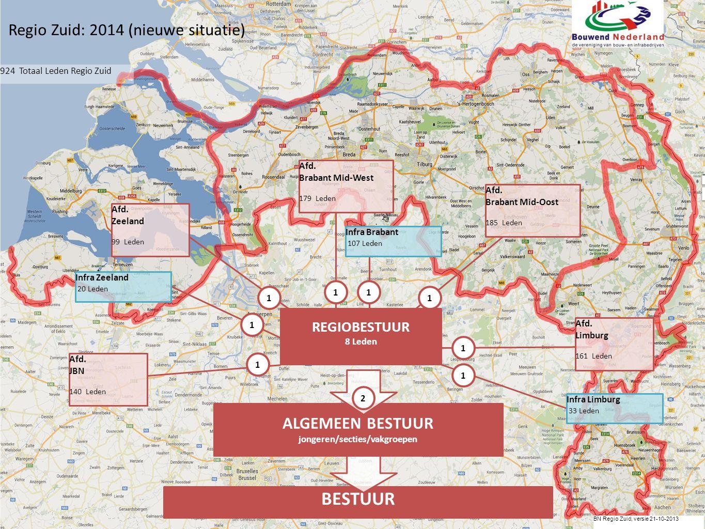 BN Regio Zuid, versie 21-10-2013 BESTUUR 111 Afd.