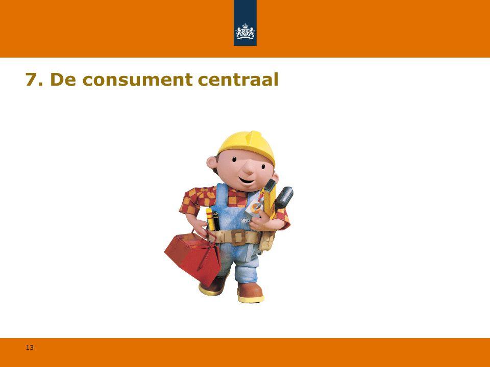 13 7. De consument centraal
