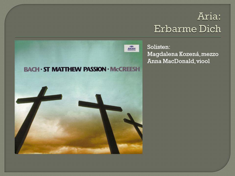 Solisten: Magdalena Kozená, mezzo Anna MacDonald, viool