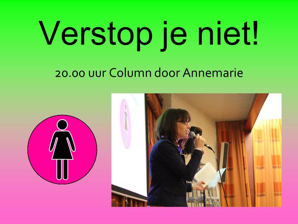 Verstop je niet! 20.00 uur Column door Annemarie