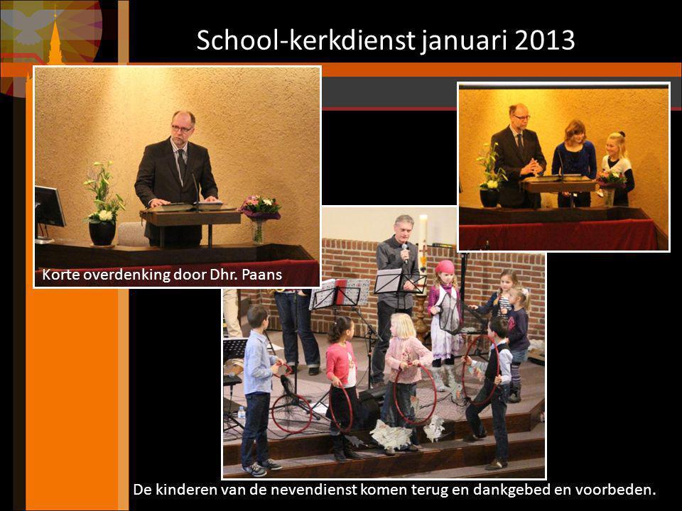 School-kerkdienst januari 2013 De groepen 5 t/m 8 zingen: De visser ging uit vissen
