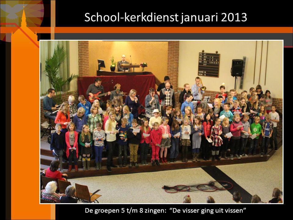 School-kerkdienst januari 2013
