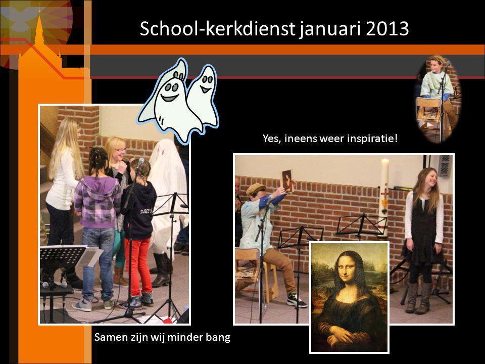 School-kerkdienst januari 2013 De kinderen van groep 1 t/m 4 zingen met de Huisband: God heeft een plan met je leven