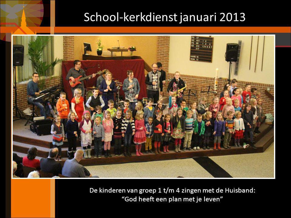School-kerkdienst januari 2013 Bijbelverhaal met tekeningen: De vissers