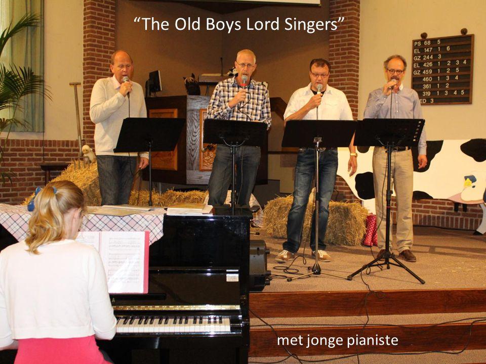 """""""The Old Boys Lord Singers"""" met jonge pianiste"""
