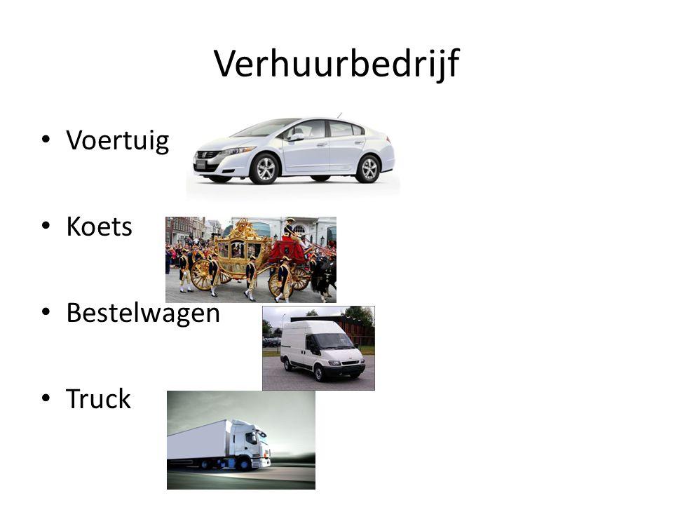 Verhuurbedrijf Voertuig Koets Bestelwagen Truck