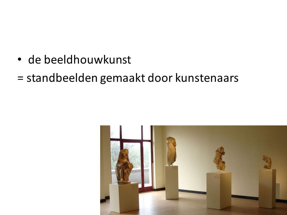 = standbeelden gemaakt door kunstenaars