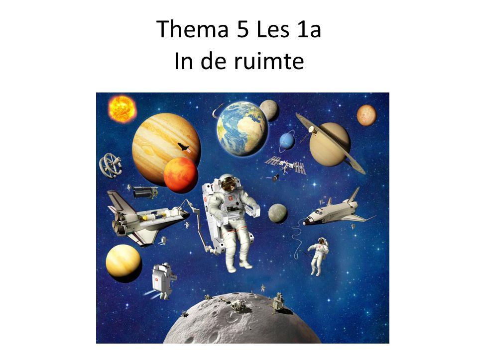 ruimtevaart = reizen door de ruimte het heelal= de ruimte buiten de aarde de astronaut= iemand die door de ruimte reist een ruimtechip= een voertuig waarmee je door de ruimte kan reizen