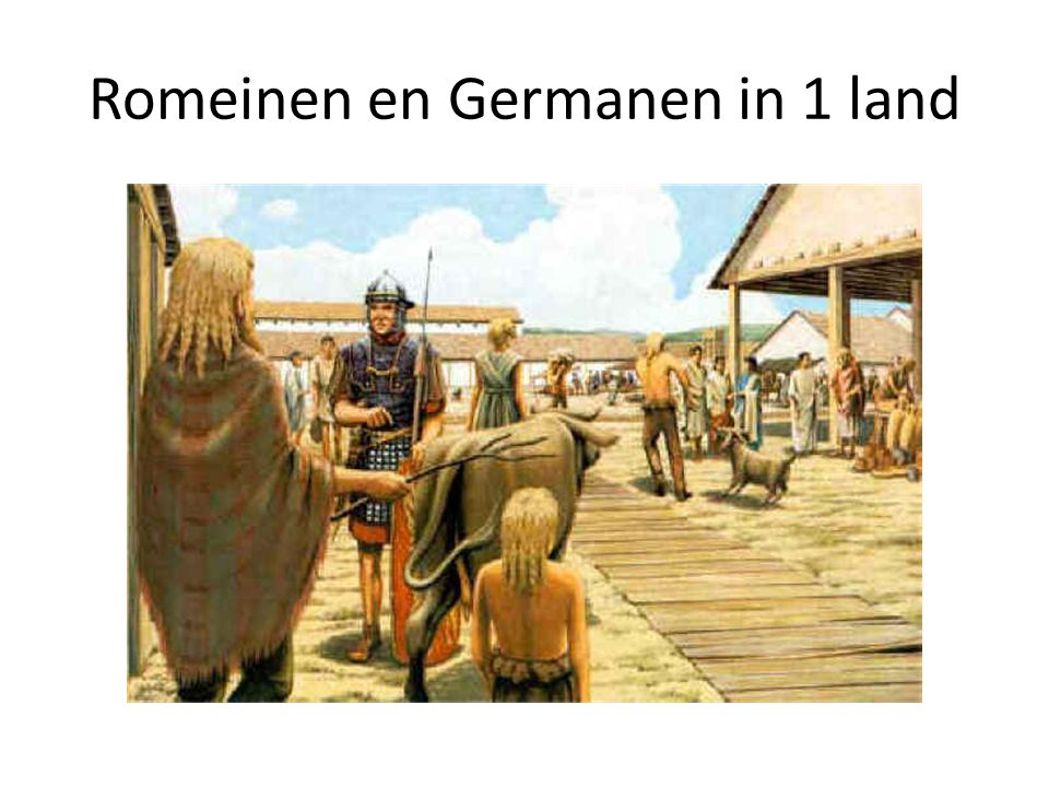 Romeinen en Germanen in 1 land