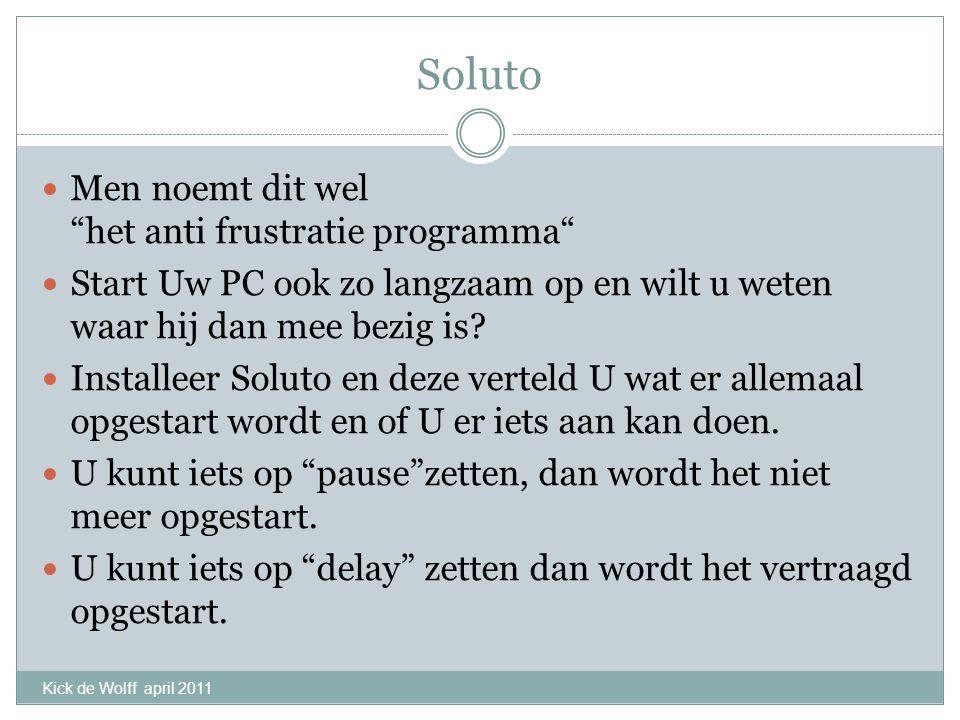 Soluto Men noemt dit wel het anti frustratie programma Start Uw PC ook zo langzaam op en wilt u weten waar hij dan mee bezig is.