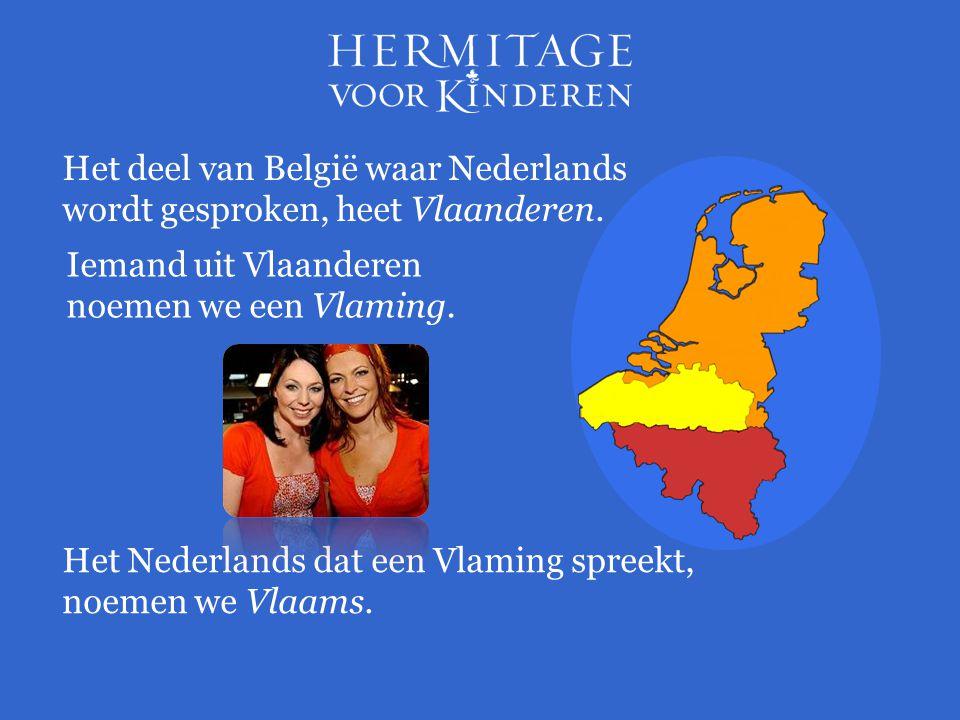 Iemand uit Vlaanderen noemen we een Vlaming. Het deel van België waar Nederlands wordt gesproken, heet Vlaanderen. Het Nederlands dat een Vlaming spre