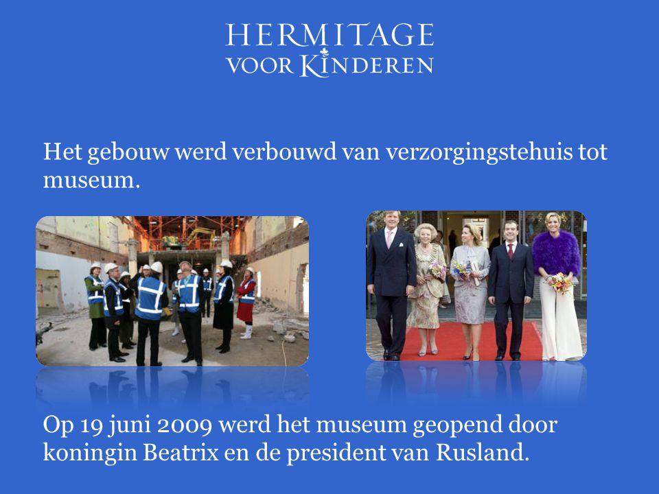 Op 19 juni 2009 werd het museum geopend door koningin Beatrix en de president van Rusland. Het gebouw werd verbouwd van verzorgingstehuis tot museum.
