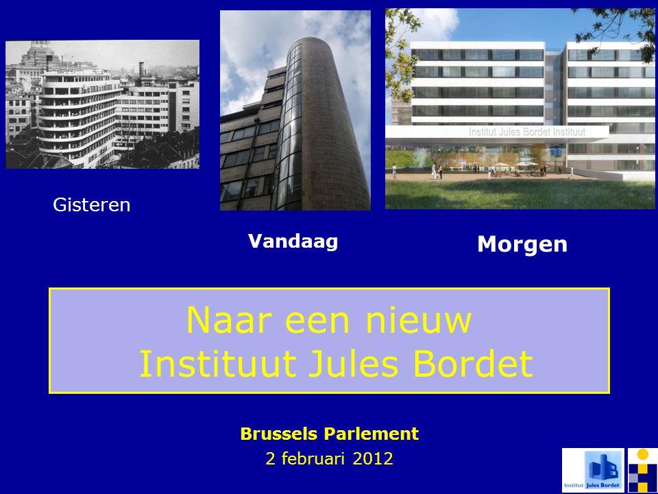 Naar een nieuw Instituut Jules Bordet Brussels Parlement 2 februari 2012 Gisteren Vandaag Morgen