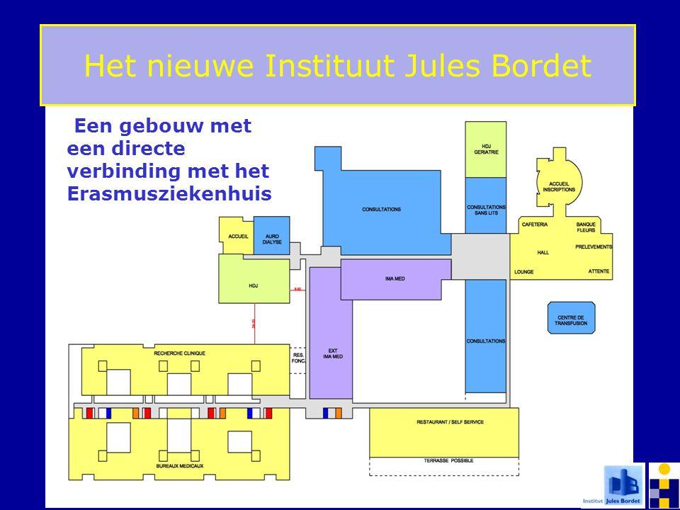 PLAN D'ENSEMBLE NIVEAU 00 Le Nouvel Institut Jules Bordet Het nieuwe Instituut Jules Bordet Een gebouw met een directe verbinding met het Erasmuszieke