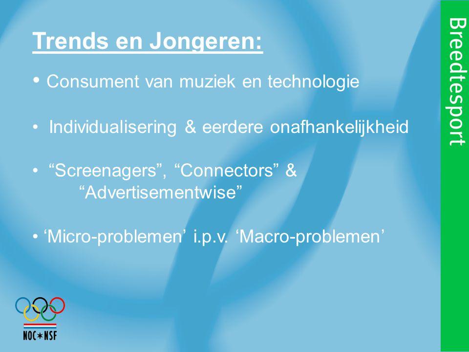 Trends en Jongeren: Consument van muziek en technologie Individualisering & eerdere onafhankelijkheid Screenagers , Connectors & Advertisementwise 'Micro-problemen' i.p.v.