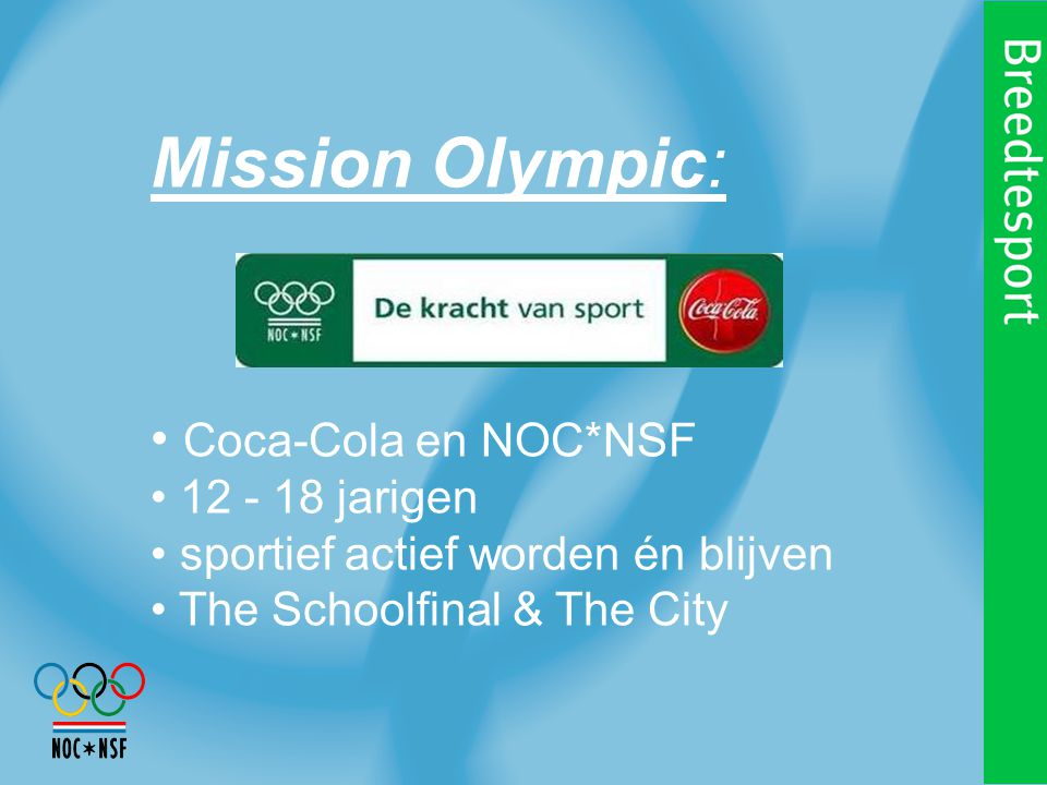 Mission Olympic, the Schoolfinal: i.s.m.