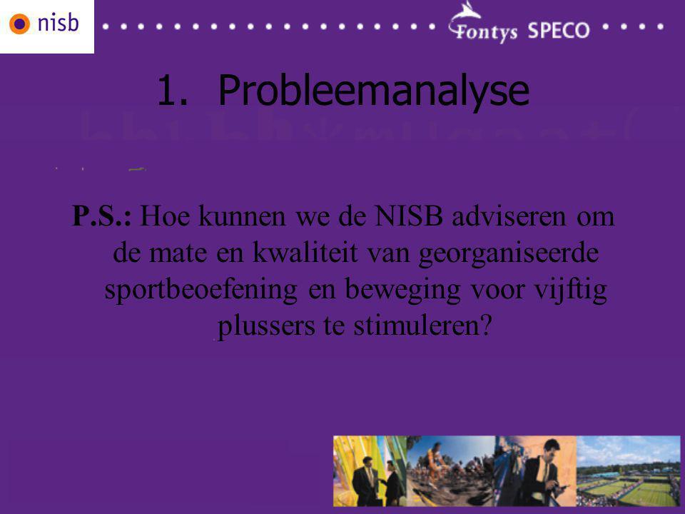 1.Probleemanalyse P.S.: Hoe kunnen we de NISB adviseren om de mate en kwaliteit van georganiseerde sportbeoefening en beweging voor vijftig plussers te stimuleren