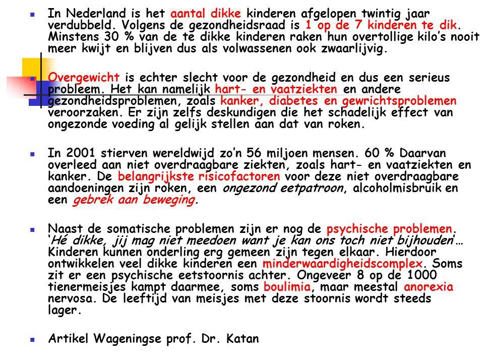 In Nederland is het aantal dikke kinderen afgelopen twintig jaar verdubbeld.