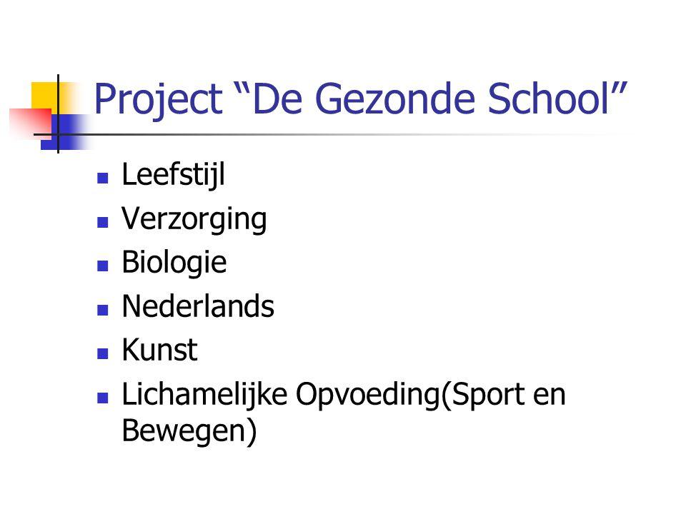 Project De Gezonde School Leefstijl Verzorging Biologie Nederlands Kunst Lichamelijke Opvoeding(Sport en Bewegen)