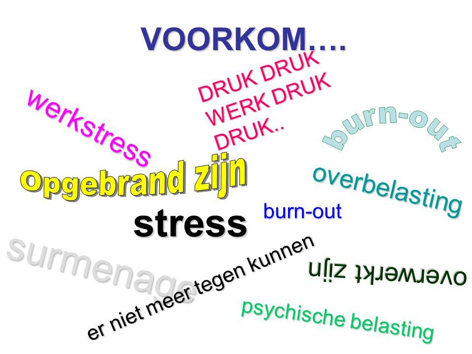 DRUK DRUK WERK DRUK DRUK.. VOORKOM…. werkstress overbelasting psychische belasting overwerkt zijn surmenage er niet meer tegen kunnen stressburn-out