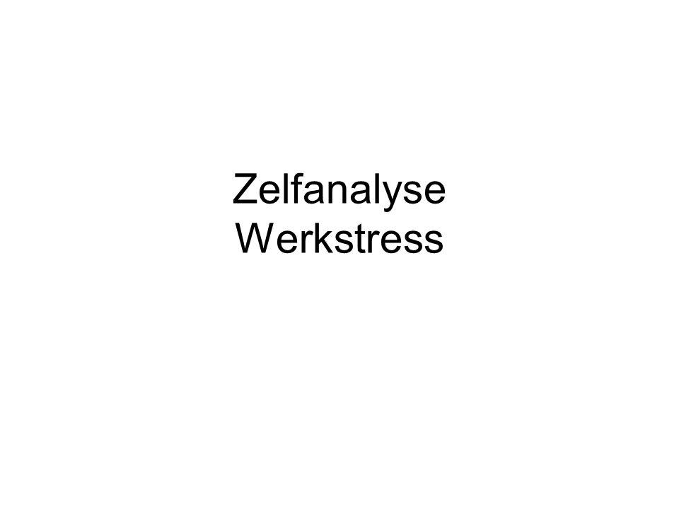 Zelftest* 3 maal 6 vragen (werkdruk, werksituatie en ontspanning) Antwoordmogelijkheden: Ameestal/vaak Bsoms Czelden * Ontwikkeld door GGZ Drenthe