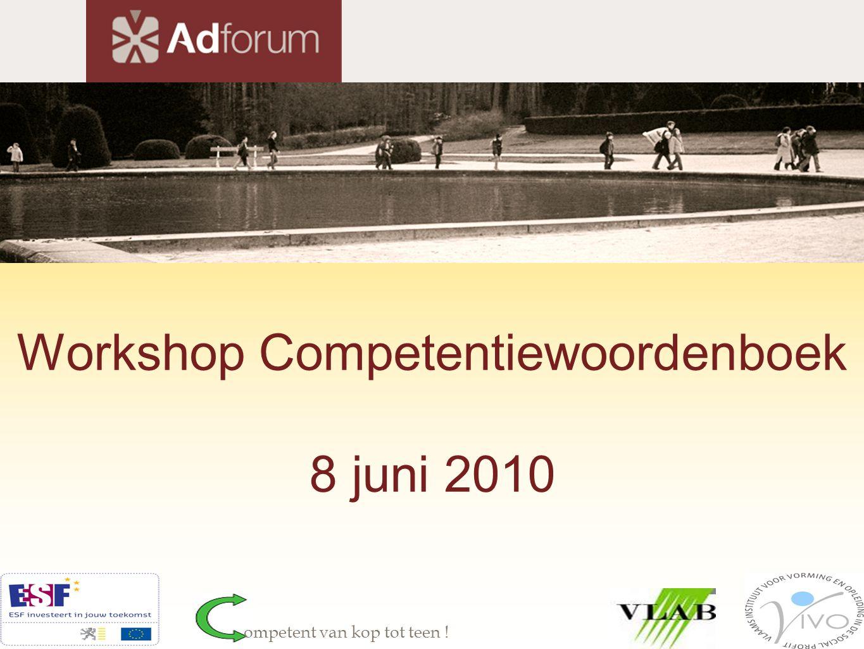 Situering: competentiemanagement competentiewoordenboek