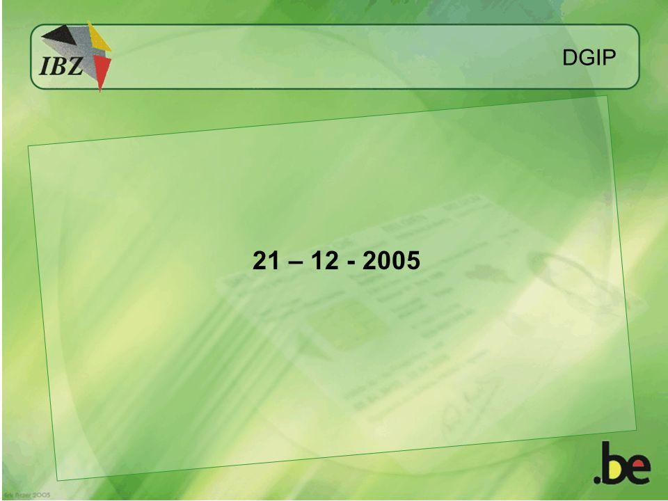 DGIP 21 – 12 - 2005
