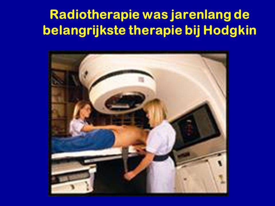 Radiotherapie was jarenlang de belangrijkste therapie bij Hodgkin