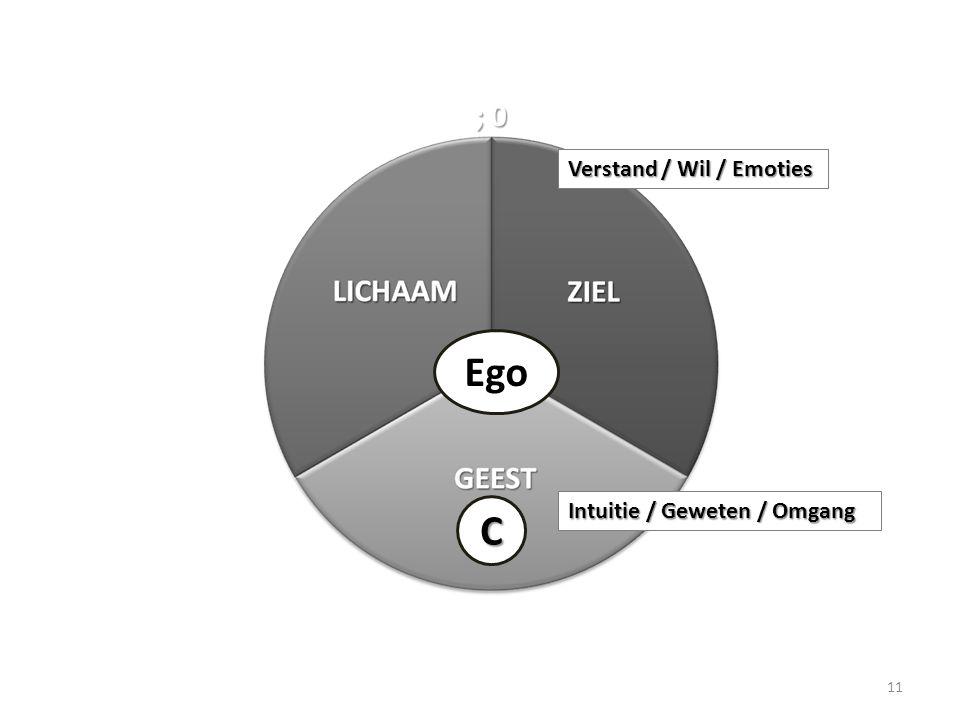 11 Ego C Verstand / Wil / Emoties Intuitie / Geweten / Omgang