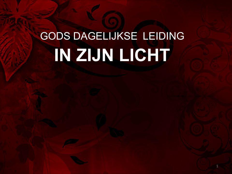 GODS DAGELIJKSE LEIDING IN ZIJN LICHT 1