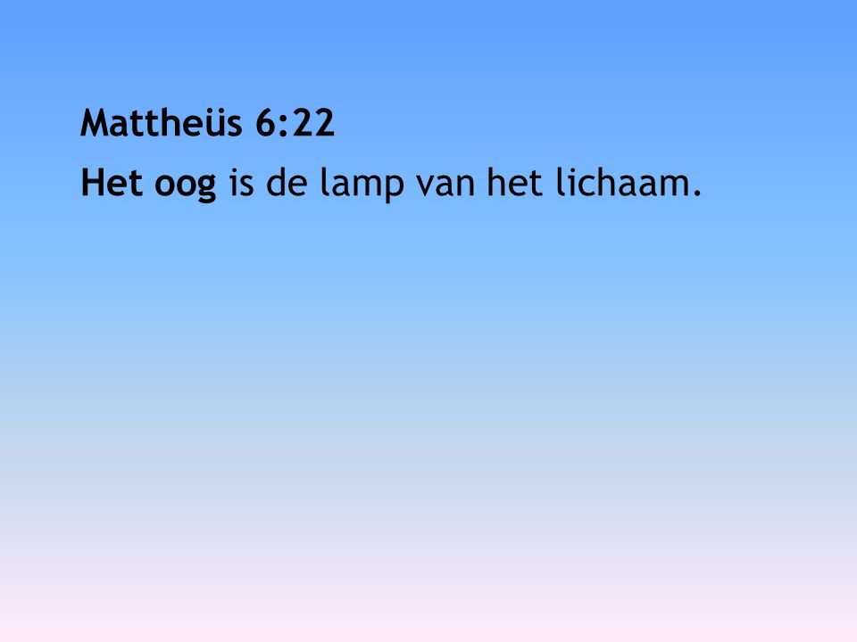 Mattheüs 6:24 Niemand kan twee heren dienen