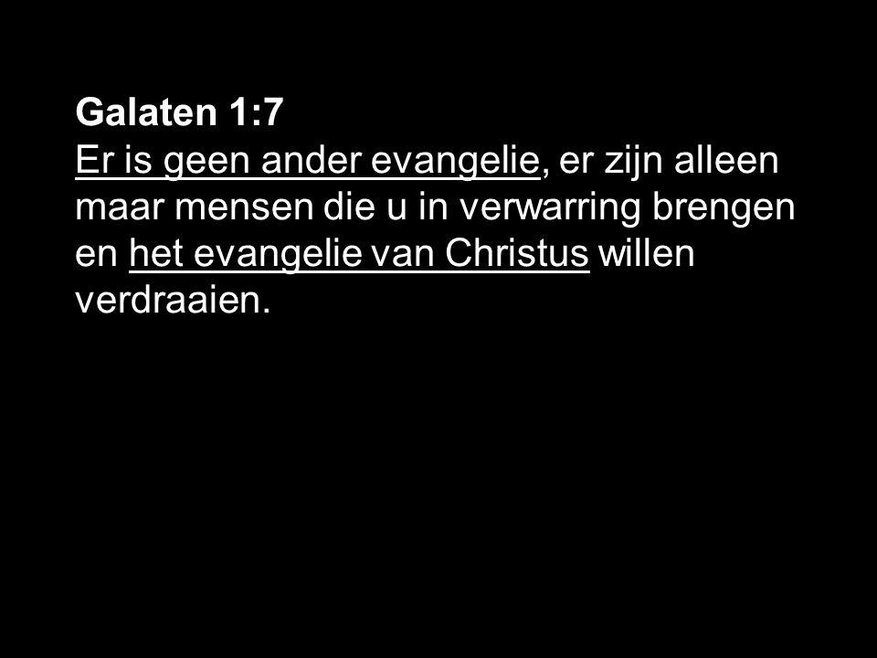 Galaten 1:11-12 Ik verzeker u, broeders en zusters, dat het evangelie dat ik u verkondigd heb niet door mensen is bedacht ik heb het ook niet van een mens ontvangen of geleerd-maar dat Jezus Christus mij is geopenbaard.