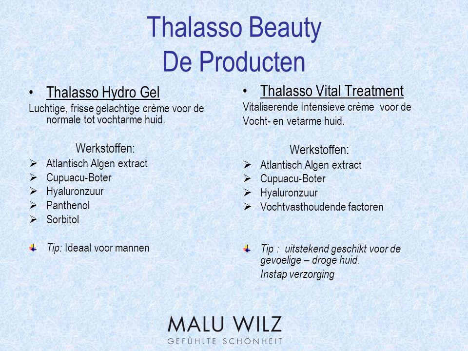 Thalasso Beauty Werkstofverklaring Algin  Word uit bruinalgen gewonnen.