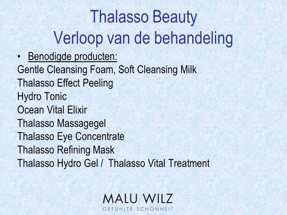 Thalasso Beauty Werkstofverklaring Atlantisch Algen extract  Ze zijn rijk aan minerale stoffen alsook Vitamine B en C.