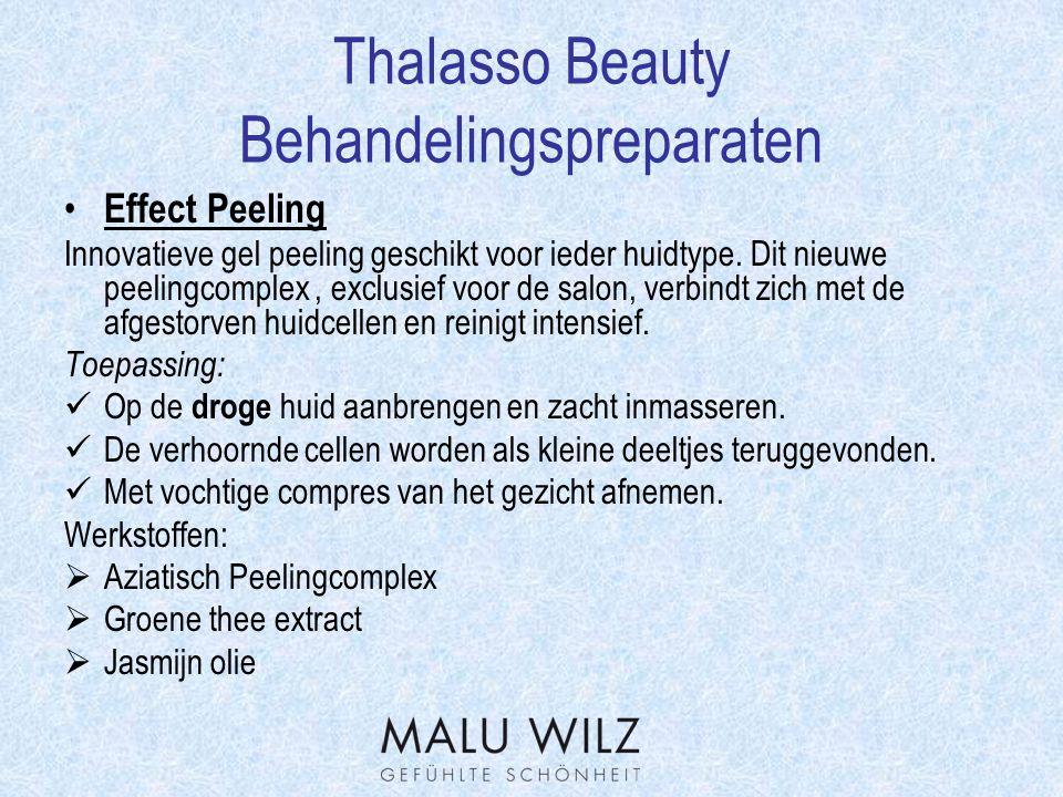 Thalasso Beauty Werkstofverklaring Hydractin: Een cosmetische werkstof op drie vlakken:  Activeert de celstofwisseling en is gelijktijdig een bron van energie voor de huid.