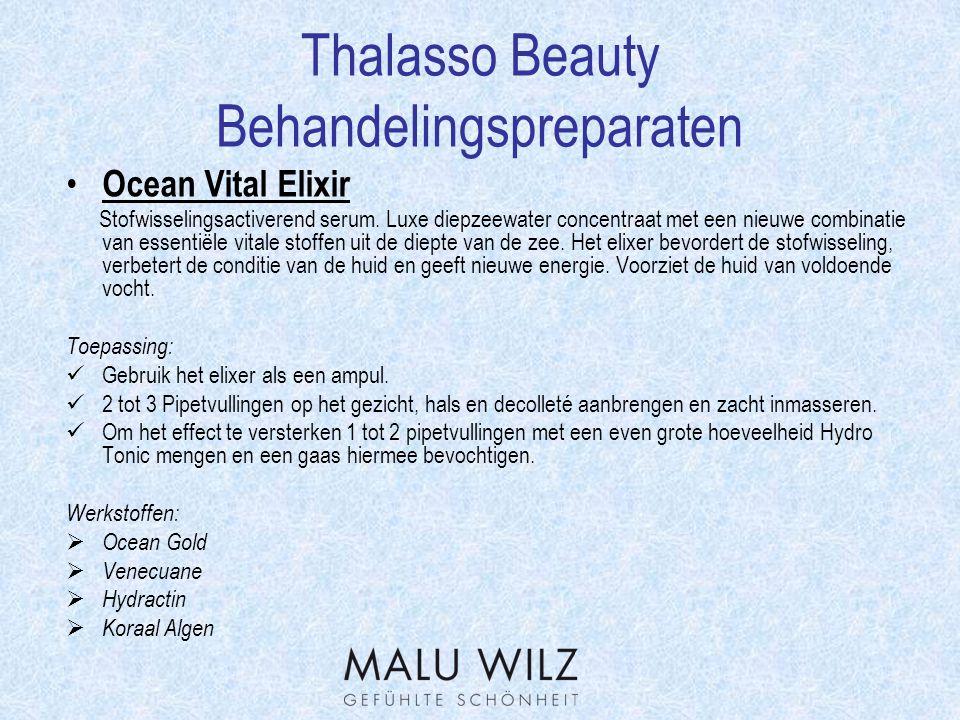 Thalasso Beauty Werkstofverklaring Koraal extract  Dit extract is in staat om de huid te regenereren en de huid met sporenelementen te verzorgen.