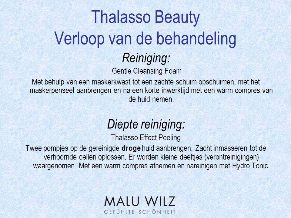 Thalasso Beauty vervolg behandeling Werkstof- concentraat: Ocean-Vital Elixir Pas dit kostbare Elixer toe als een Ampul.