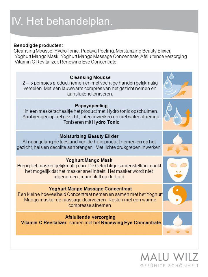 Body- Behandlung Wertvolle Momente für Körper und Geist Moodbild zum Thema IV. Het behandelplan. Benodigde producten: Cleansing Mousse, Hydro Tonic, P