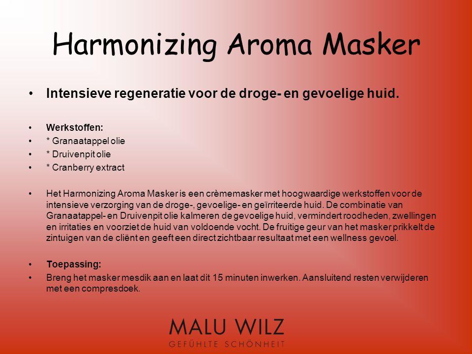 Verloop van de Harmonizing behandeling Benodigde producten: Rich Cleansing Cream Papaya Peeling Aromatic Wellness Essence Skin Harmonizing Ampulle Harmonizing Aroma Mask Sensitiv Skin Cream of Super Rich Balm