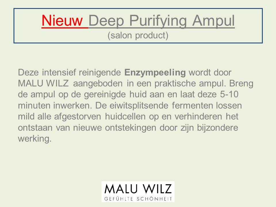Nieuw Deep Purifying Ampul (salon product) Deze intensief reinigende Enzympeeling wordt door MALU WILZ aangeboden in een praktische ampul. Breng de am