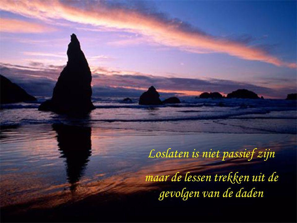 Loslaten is niet de dingen aanpassen aan je eigen verlangen maar elk moment aannemen zoals het zich aanbiedt
