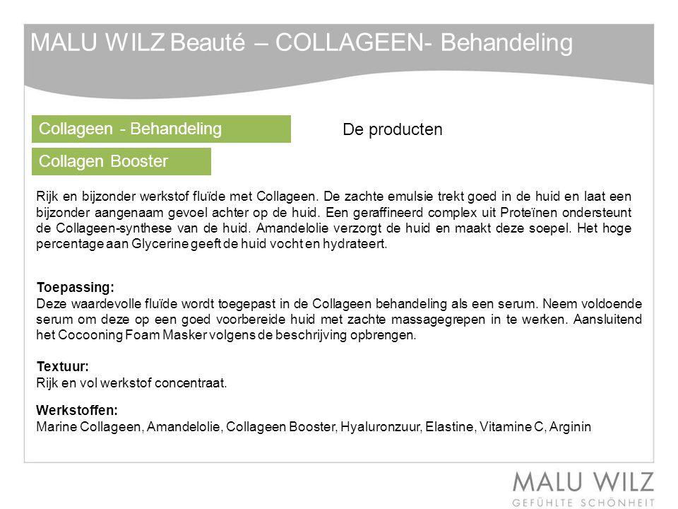 Collageen - Behandeling Collagen Booster Rijk en bijzonder werkstof fluïde met Collageen.